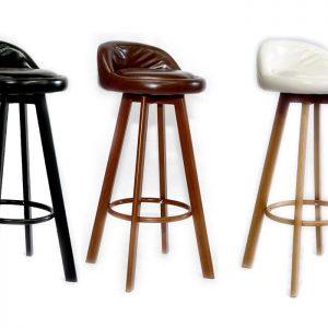כסאות בר לבן מעץ