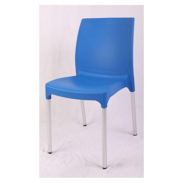 כסא פלסטיק כחול