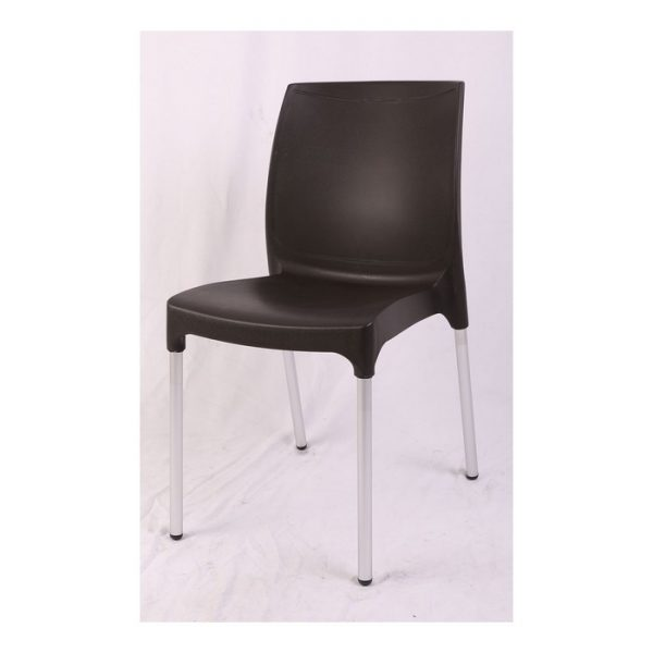 כסא פלסטיק שחור